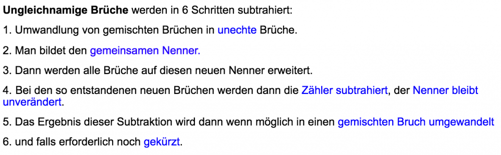 subtraktion brüche - wwwin-lernen.at