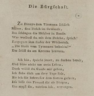 Ballade Die Bürgschaft Friedrich Schiller Interpretation Wwwmein