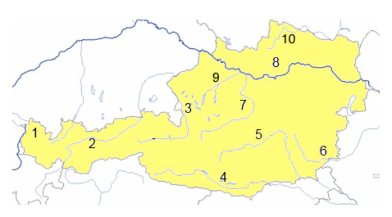 Steiermark Karte Flüsse.Www Mein Lernen At